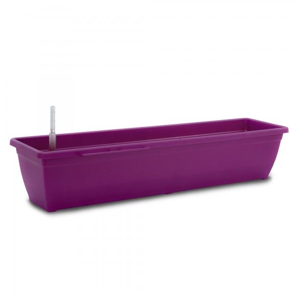 Bewässerungskasten 80 cm AquaToscana purple + Wasserstandsanzeiger