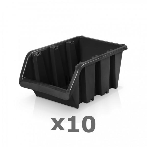 10 x Lagerbox Größe 4 schwarz