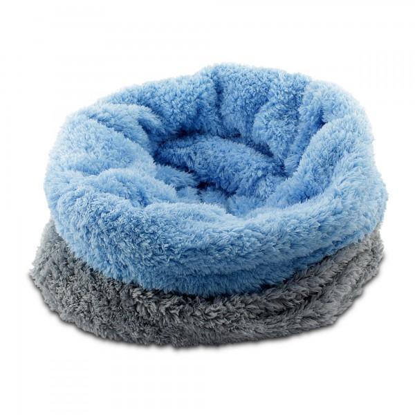 3in1 Decke Deluxe - Schlafsack - Kissen für Hunde und Kleintiere - Grau/Blau