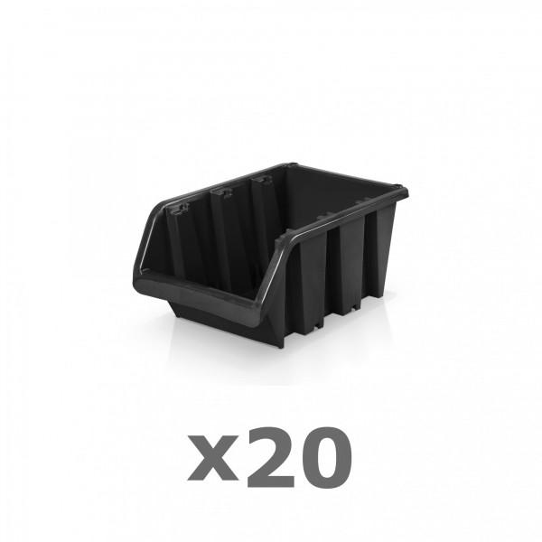 20 x Lagerbox Größe 1 schwarz