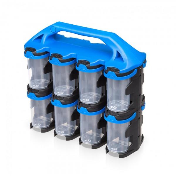 Kleinteilemagazin mit 16 Behältern - je 210 ml Volumen