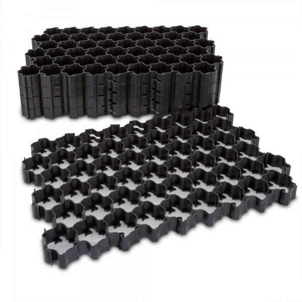 1,1 m² Rasengitter schwarz - 60 x 40 x 3,5 cm