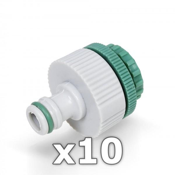 10 x Berlan Hahnstück für Wasserhahn 1/2 + 3/4 + 1'' Zoll - GREEN LINE -