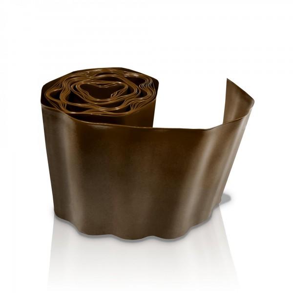 Rasenkante 15 cm x 9 m - braun