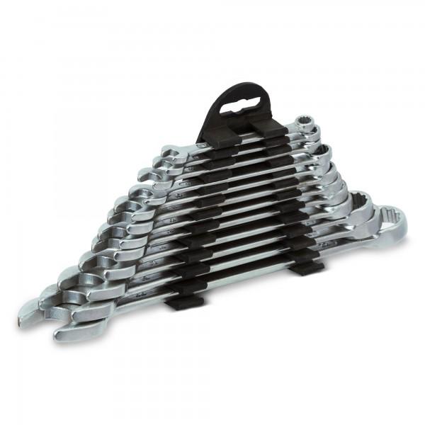 12 tlg. Ring- Maulschlüsselsatz (6 - 22 mm) + Halterung