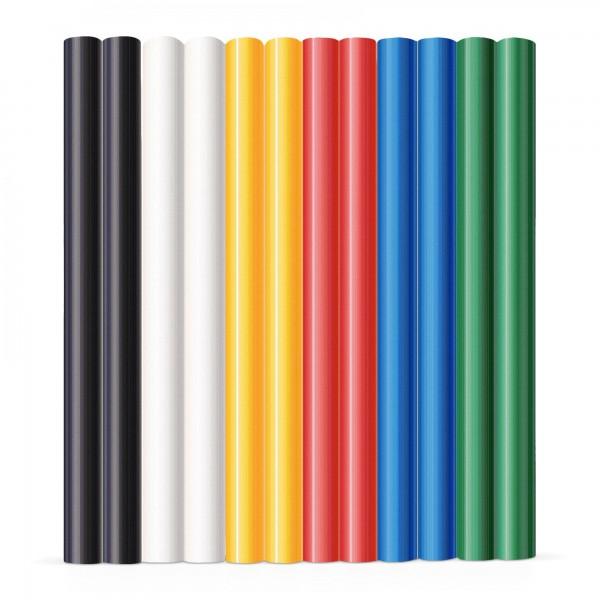 12x Heißklebestick bunt (6 Farben x 2 Stück) Ø 7,2x100mm