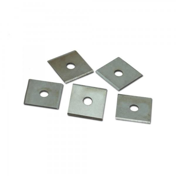 5 x Ersatzklinge für Kantenhobel - Quadratform - 24 x 23 mm