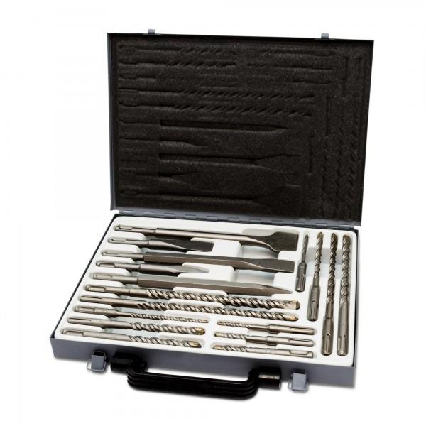 17-tlg. Bohrer- & Meißelsatz - SDS PLUS im Koffer