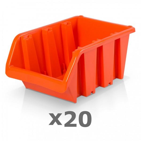 20 x Lagerbox Größe 6 rotbraun