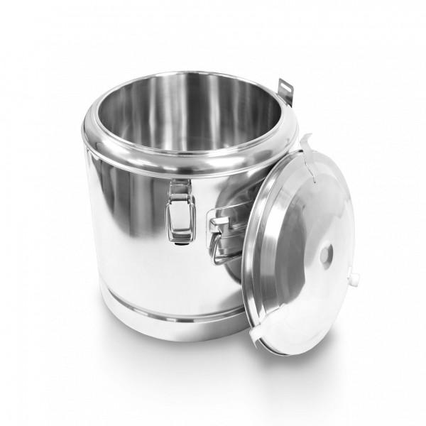 Schengler Edelstahl Thermobehälter 80 Liter - 50 x 55 cm + Deckel