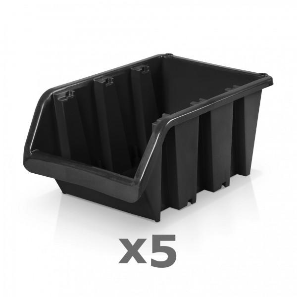 5 x Lagerbox Größe 5 schwarz