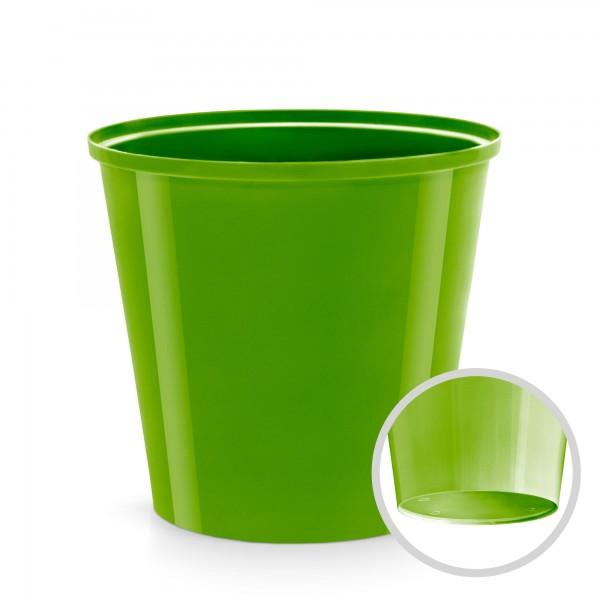 Kunststoff Blumentopf - oliv - 130 mm Durchmesser - rund
