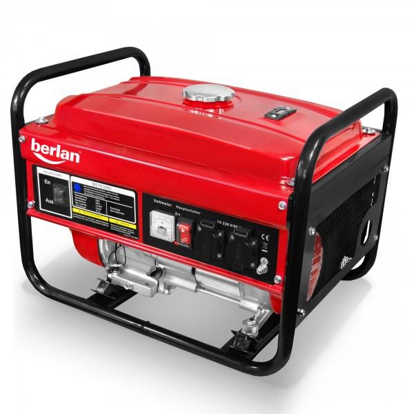 Berlan Benzin Stromerzeuger BSTE3000 - 2800 Watt / 6,5 PS