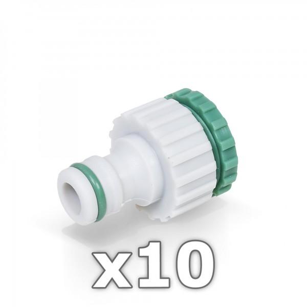 10 x Hahnstück für Wasserhahn 1/2 + 3/4'' Zoll - GREEN LINE -