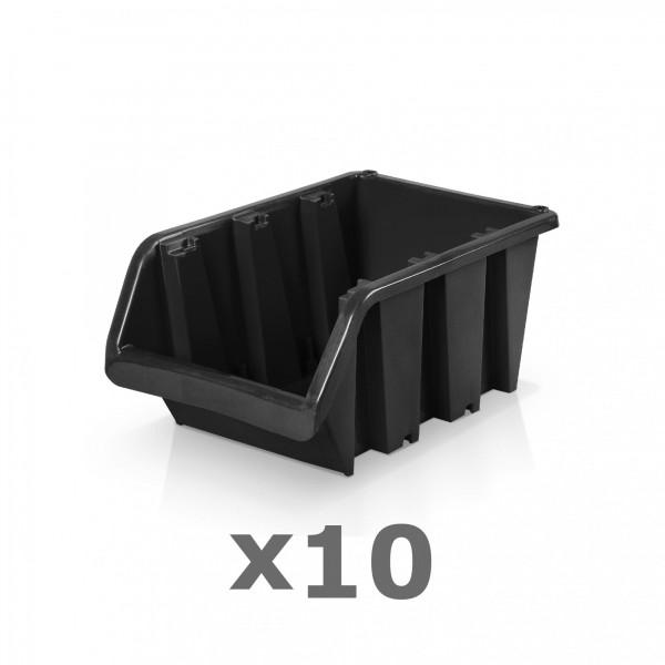 10 x Lagerbox Größe 3 schwarz