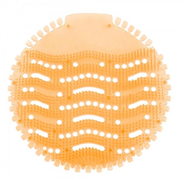 Urinaleinlage mit Mangoduft - orange - 17 cm Durchmesser