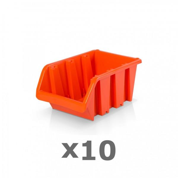 10 x Lagerbox Größe 2 rotbraun