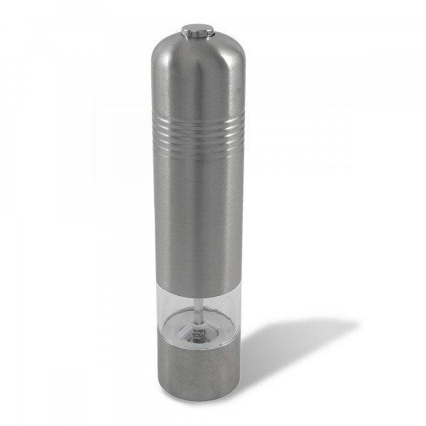 Elektrische Gewürzmühle - Edelstahl / Glas - 22,5 x 5 cm