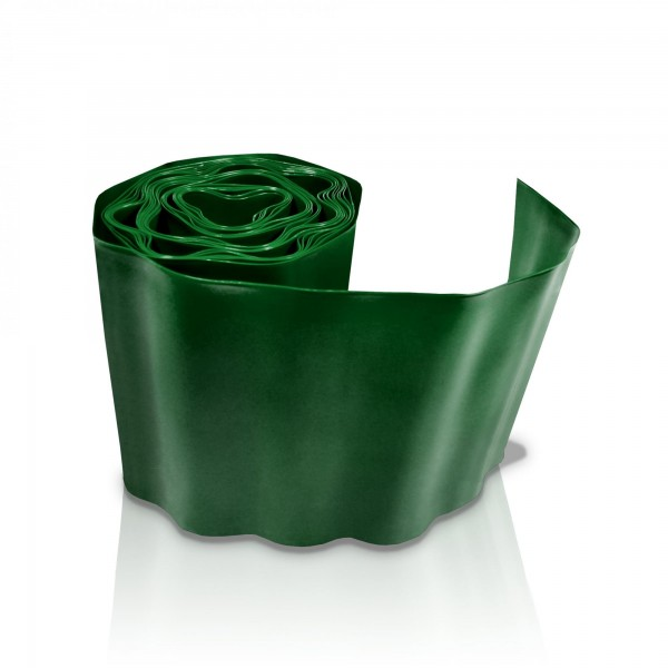 Rasenkante 15 cm x 9 m dunkelgrün