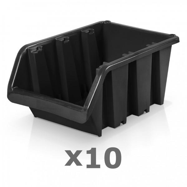10 x Lagerbox Größe 6 schwarz