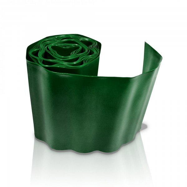 Rasenkante 20 cm x 9 m dunkelgrün