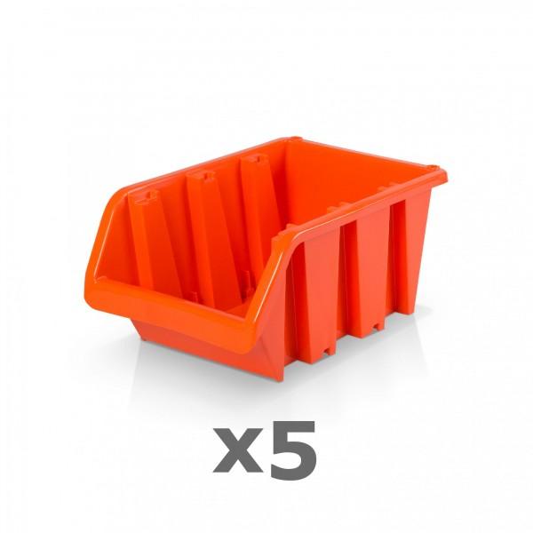 5 x Lagerbox Größe 3 rotbraun