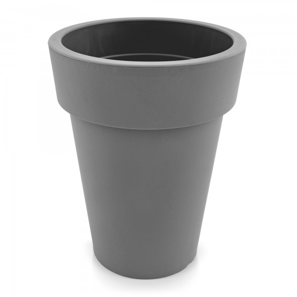 Kunststoff Blumentopf schmal grau - Höhe 396 mm