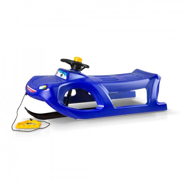 Lenkschlitten Car blau