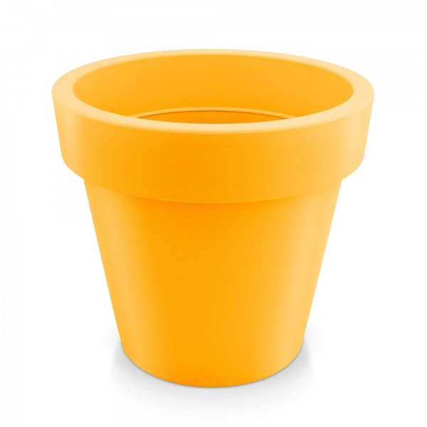 Kunststoff Blumentopf - orange - Höhe 144 mm