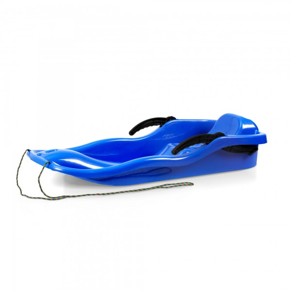 Kunststoffbob RACE blau + Bremse + Leine 40 x 87 cm