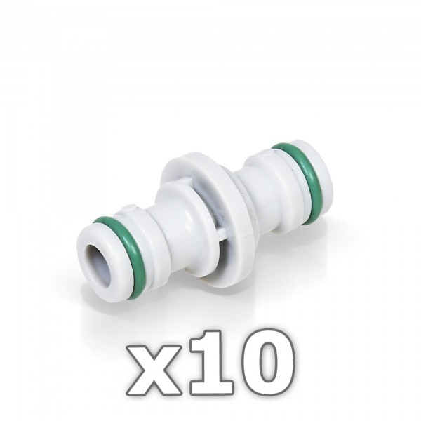 """10 x Berlan 2-Wege Schlauchkupplung 1/2"""" Zoll -GREEN LINE-"""