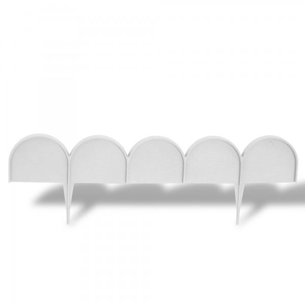 Rasenkante Bogen 10 m x 9 cm weiß