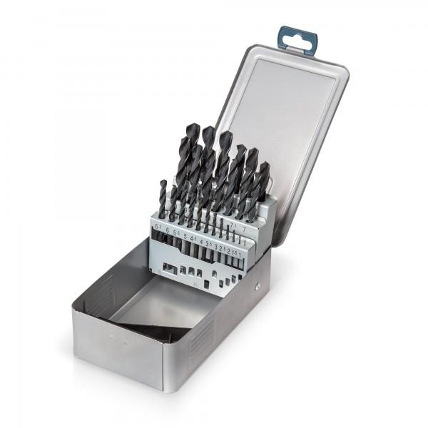 25-tlg. HSS Metallbohrer Satz (1-13mm) DIN338
