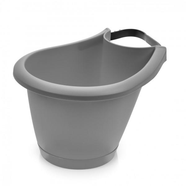 Blumentopf für Regen- und Fallrohre - 220 mm Durchmesser - grau