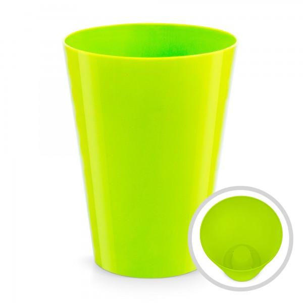 Blumentopf Coubi - Höhe 170 mm - glänzend mintgrün - rund