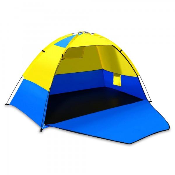2-Personen-Leichtzelt gelb/blau - 200 x 120 x 120 cm