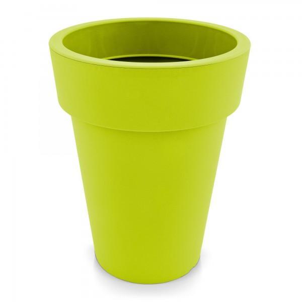 Kunststoff Blumentopf schmal mintgrün - Höhe 518 mm