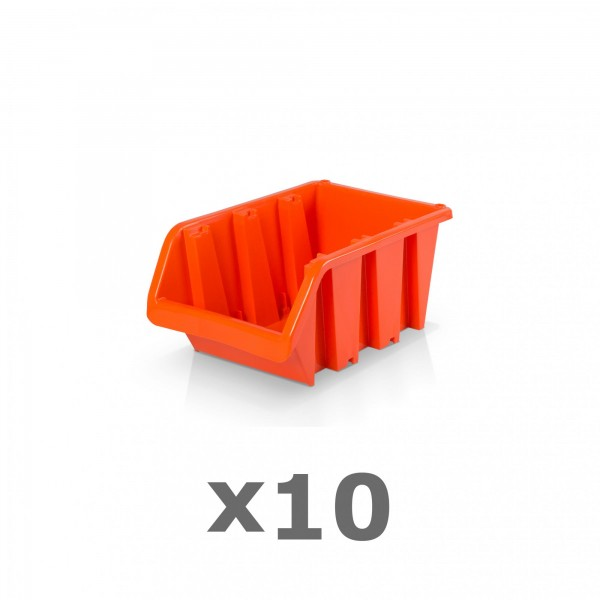 10 x Lagerbox Größe 1 rotbraun