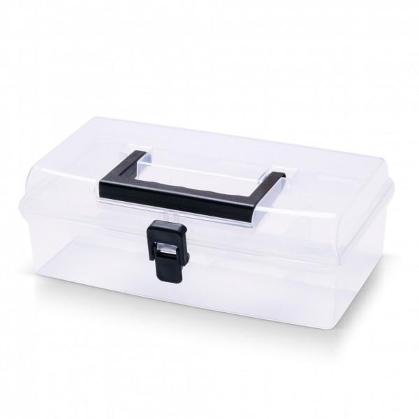 Kunststoff Sortimentskasten transparent mit 5 Fächern - 245x135x85 mm