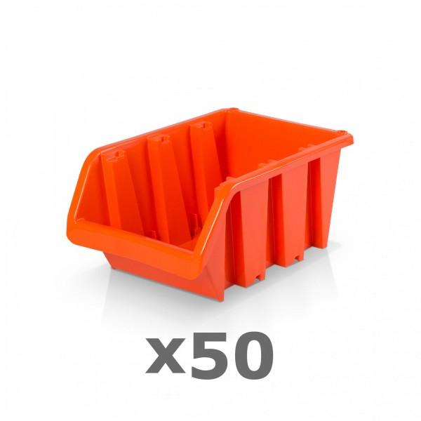 50 x Lagerbox Größe 3 rotbraun