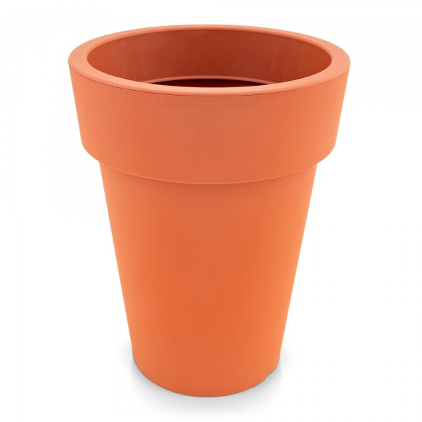 Kunststoff Blumentopf schmal terracotta - Höhe 319 mm