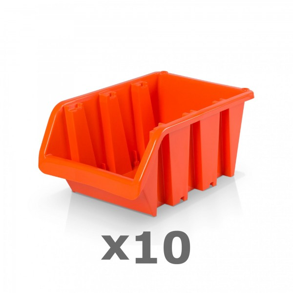 10 x Lagerbox Größe 4 rotbraun