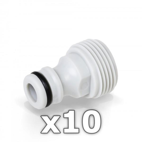 10 x Berlan Gerätestück 3/4'' Zoll AG - RED LINE -