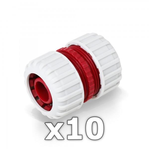 10 x Berlan 3/4'' Zoll Reparator Schlauchverbinder - RED LINE -