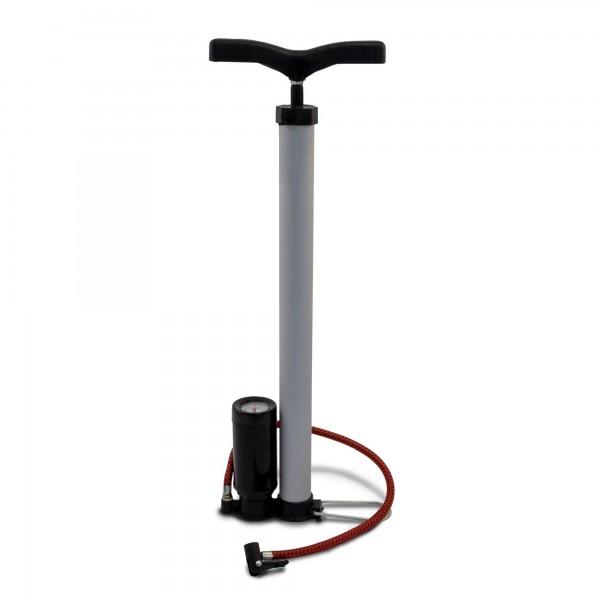 Aluminium Luftpumpe mit Manometer - 100 PSI / 7 bar