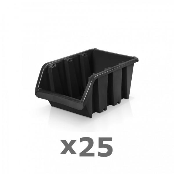 25 x Lagerbox Größe 2 schwarz