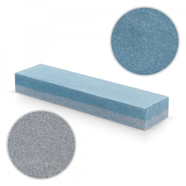 Schleifstein grob und fein (K120/K180) - 200 x 50 x 26 mm