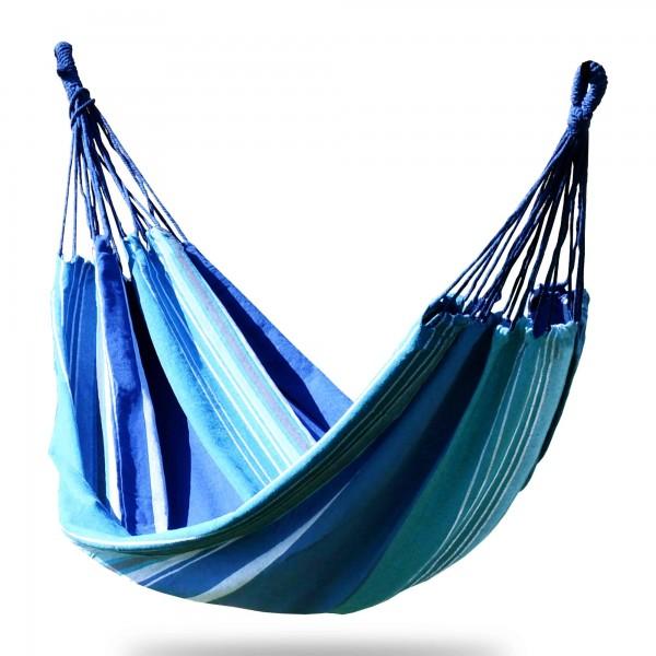Hängematte blau/weiß - 100 x 200 cm - bis 120 kg