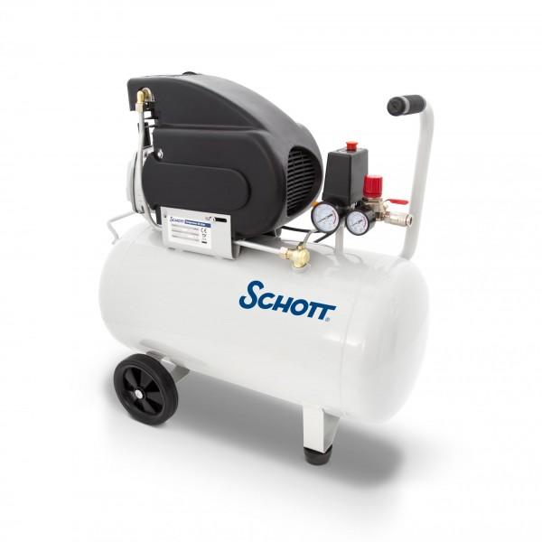 Schott Druckluft Kompressor 50 Liter 8 bar 1500 W - 2 Manometer