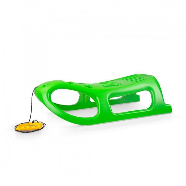 Schlitten LITTLE SEAL grün mit Leine 46 x 86 cm